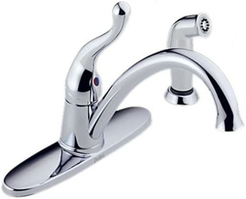 Delta 418-WF Talbott Single Handle Kitchen Faucet w Side Spray Chrome
