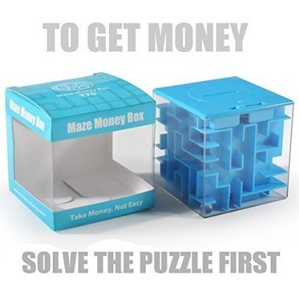 Trekbest Money Maze Puzzle Box – A Fun Unique Way to Give Gifts for Kids and Adults