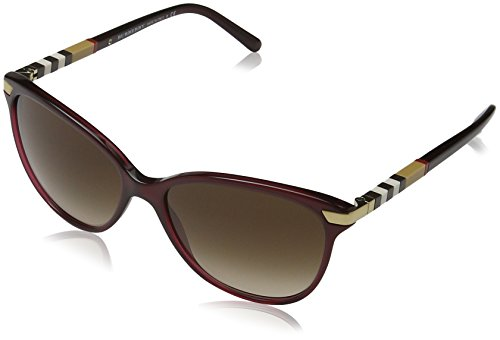 Burberry BE4216 Sunglasses 301413-57 - Bordeaux Frame, Brown Gradient - Shop Burberry