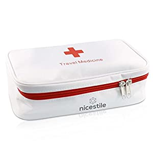 NICESTILE Travel Medicine Bag, empty Medication Organizer, Storage of Vitamins