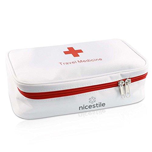 NICESTILE Travel Medicine Bag, empty Medication Organizer, Storage of Vitamins