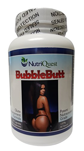 Bubble Butt Enhancement | Enlargement Capsules | Pills (1 Bottle) (Best Booty Enhancement Pills)