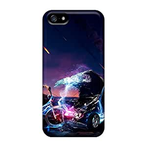 Protective Tpu Cases With Fashion Design For Iphone 5/5s (3d Hd)