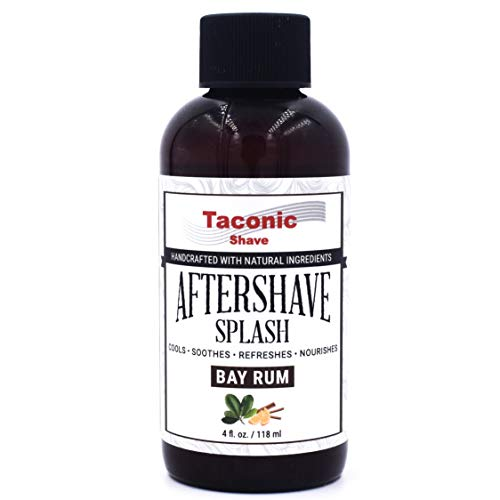 Taconic Shave Bay Rum Aftershave Splash - Cooling Formula - Artisan Made in the USA