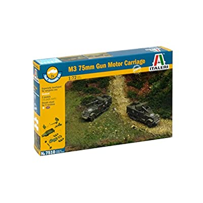 Italeri M3 75mm Half Track (Fast Assembly) Model Kit: Toys & Games