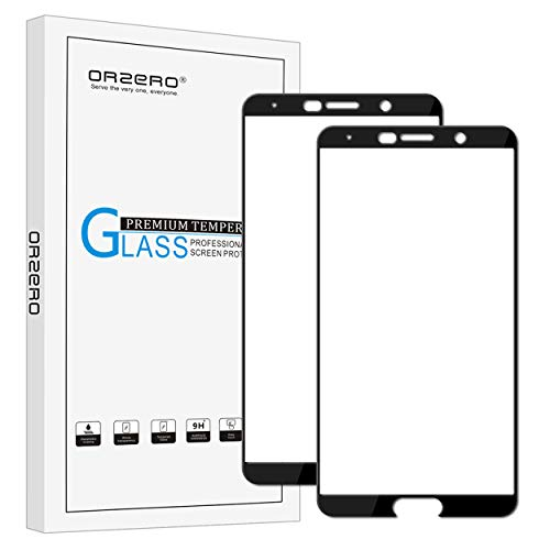 [2 Pack] Orzero For Huawei Mate 10 Tempered Glass Screen Protector, 2.5D Arc Edges 9 Hardness HD Anti-Scratch Anti-Fingerprint [Lifetime Replacement Warranty]
