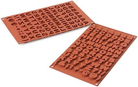 cotta シリコマート シリコンフレックスSF169 チョコABC 赤 完成サイズ:0.2~0.25×0.14~0.2×H0.7cm 88787