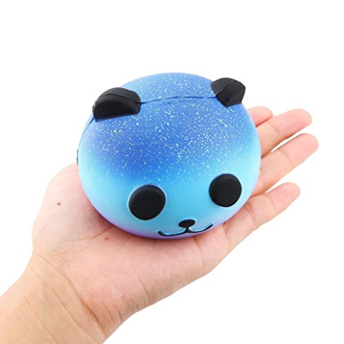 Palarn Starry Cute 10cm Panda Baby Cream Scented Squishy Slow Rising Squeeze Kids Toy Ferros Mini Pendant