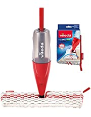 Vileda Spray & Clean Spray mop with Tank for Wet Cleaning of Tiles, parquet and Laminate, Multicoloured