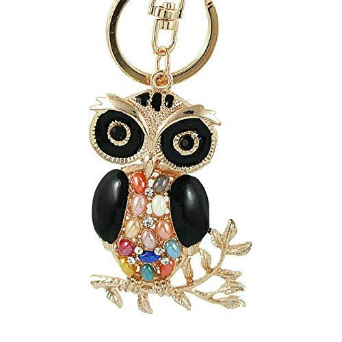 (Owl Shape Rhinestone Keychain Pendant Purse Bag Car Key Ring Ornament Welcome (Style. - YSKZ-709))