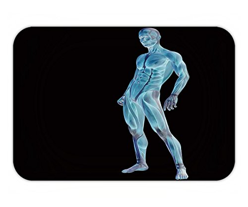 Beshowere Doormat High Resolution Concept Or Conceptual Human Or Man D Anatomy Blue Transparent Body With Muscle