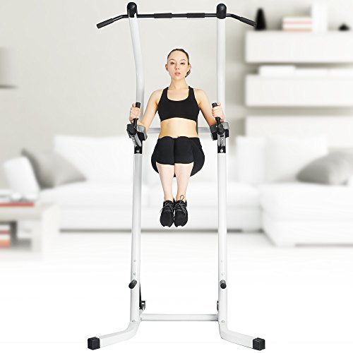 XPH Pull Up Dip Station Power Tower Workout Tower Fitness Station Body Tower Sports Equipment Pull Up Bar Standing Tower Home Fitness Workout Station (white) by XPH (Image #7)'