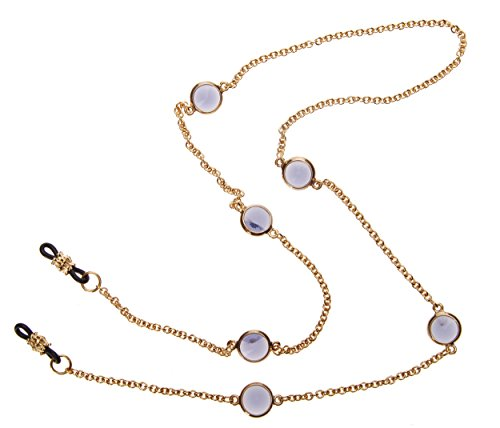 L. Erickson Charmer Eyeglass Chain - Tanzanite/Gold by L. Erickson