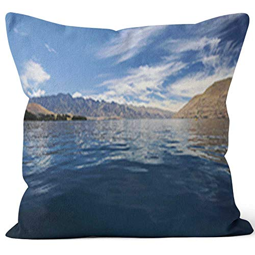 Nine City Kayaking in New Zealand Throw Pillow Cushion Cover,HD Printing Decorative Square Accent Pillow Case,26