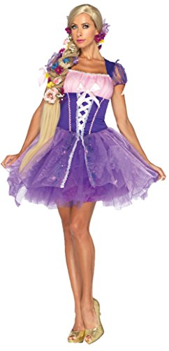 Disney Themed Costumes (Leg Avenue Womens Sweet Purple Peasant Rapunzel Disney Halloween Themed Costume, L (12-14))