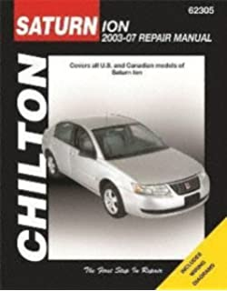 Saturn ion 2003 2007 chiltons total car care repair manuals chilton automotive repair manual for saturn ion 2003 07 62305 fandeluxe Choice Image