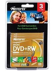 Imation 4X DVD-RW Media - 1.4GB - 80mm Mini - 3 Pack Blister Pack
