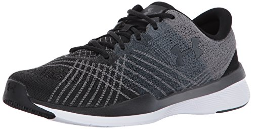 Under Armour Women's Threadborne Push Sneaker, Black (001)/Steel, 8