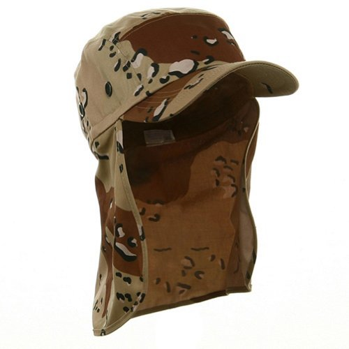Desert Camo Cap Sun Protection Foreign Legion Flap Hat