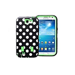 Samsung Galaxy S5 Case, MOKOU Hard Hybrid Polka Dot Case Cover for Samsung Galaxy S5 i9600