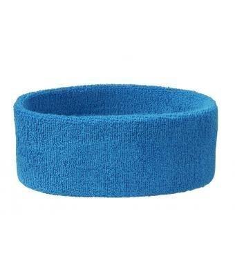 Stirnband Headband Kopfband Knitband Schweißband schwarz navy rot weiß Stirnbänder Tennis Squash Badminton Fitness (Preis pro Stück) (Aqua)