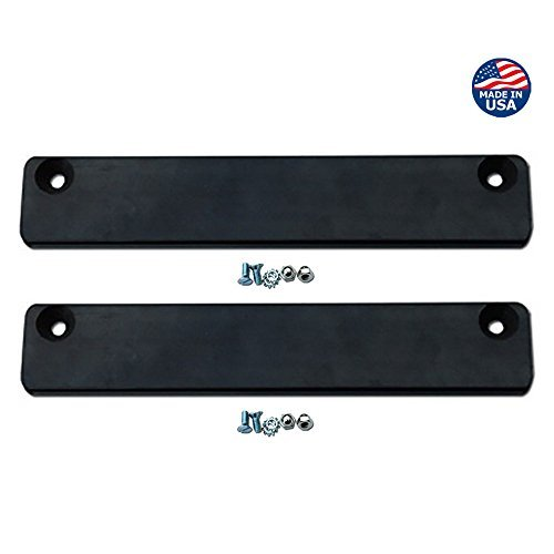 Premium Rubber Coated Magnetic License Plate Holder (2-pack Bundle) - Keep Your Demo Tag or Temp Tag Secure on Test Drives (2-pack)