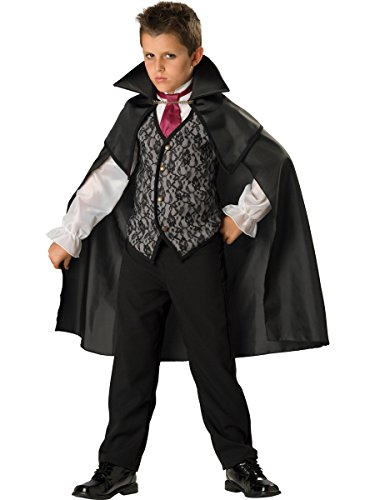 InCharacter Costumes Midnight Vampire Costume, One Color, Size (Midnight Vampire Costume Child)