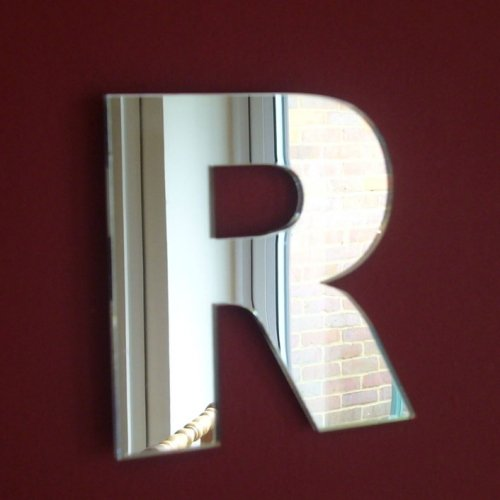 Upper Case Letter R Mirrors - 10cm (Letters Mirrored Wall)