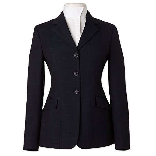 RJ Classics Ladies Prestige Collection Hunt Coat Navy Plaid (10)