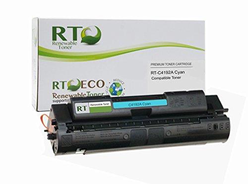 Renewable Toner Compatible Toner Cartridge Replacement for HP 640A C4192A Color Laserjet 4500 4550 (Cyan) (C4192a Compatible Laser Cyan)