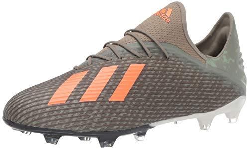 adidas Men's X 19.2 FG Football Shoe, legacy green/solar orange/chalk White, 9 Standard US Width US