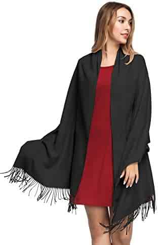 9650c8f45 Pashmina Shawls and Wraps for Women - PoilTreeWing Solid Color Cashmere  Scarfs