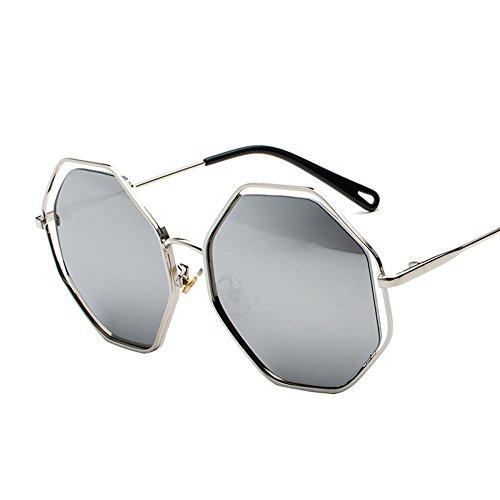 Aoligei Polygone Retro creux lunettes de soleil hommes, femmes, lunettes de soleil lunettes de conduite rond visage A