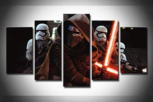 NATVVA Star Wars Kylo Ren Stormtrooper 5 Piece Canvas Print Wall Art Paintings
