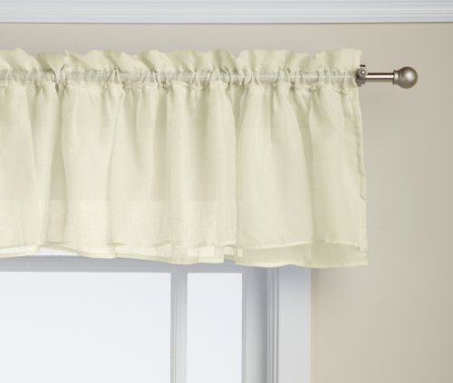 Lorraine Home Fashions Gypsy Shabby Chic Layered Ruffle Window Valance, 60 by 15-Inch, Cream