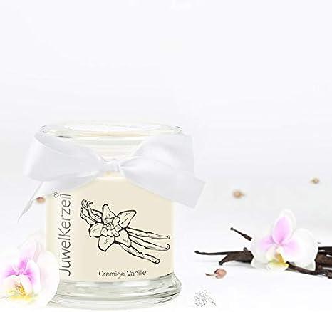 Bougie Parfum/ée avec Bijou Surprise en Argent JewelCandle Creamy Vanilla S Bague