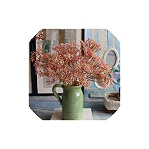 7 Colours 1Pc Artificial Flower Fake Baby's Breath Gypsophila Bouquet Wedding Arrangement Home Decoration 39
