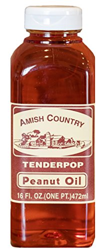 Amish Country Popcorn (16 oz) Peanut Oil - with Recipe Guide and 1 Year Extended Freshness Warranty by Amish Country Popcorn