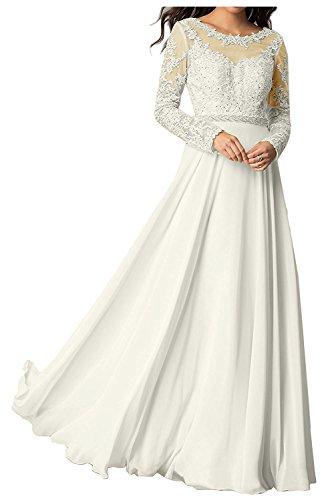Herrlich Langarm Promkleider Spitze Elfenbein Braut Flieder La Brautmutterkleider Lang Ballkleider Abendkleider mia 7IUEqxwZ