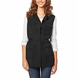 Buffalo David Bitton Women's Lightweight Vest (S, Black)