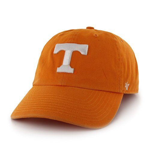 NCAA Tennessee Clean Up Adjustable Cap, Vibrant Orange 1, One Size