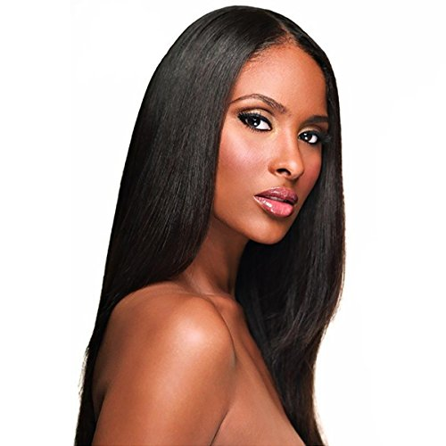 WTB Hair 16'' Long Natural Bob Female Wig Black Heat Resistant Synthetic Hair Wigs For Black Women Long Black Wig With Hair Part