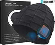 Upgraded V4.2 Bluetooth Beanie Hat Headphones Wireless Headset Winter Music Hat Knit Cap with Stereo Speakers