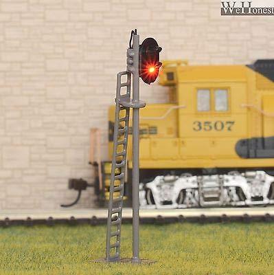FidgetKute 1 x OO / HO Scale Model Train Railroad Block led Signal Green Over Red #G87