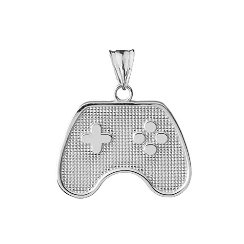 Game Pendant - Fine Sterling Silver Video Game Controller Charm Pendant