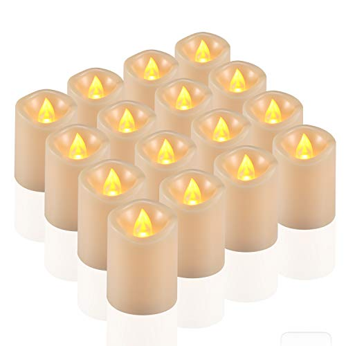 comenzar Flameless Candles, Votive Candles Set 16(H 2 xD 1.5) Led Tea Light Candles