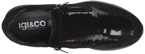 8758 Dku amp;CO Nero a Donna Collo IGI Basso Sneaker EUqBB