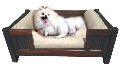 Offex Mahogany Solid Wood Finish Pet Dog Sleeper (Mahogany Settee)