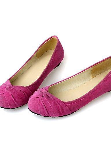 Negro Pdx Eu35 Punta Almond Redonda Talón Flats azul almendra Uk3 us5 Zapatos rojo Plano de De Cn34 Casual Mujer BRvBSq