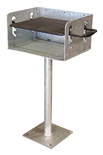 In-Ground Galvanized Outdoor Grill by Leisure Craft